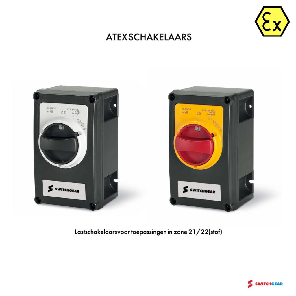 Atex schakelaar stofexplosieveilig zone 21 zone 22 EX lastscheider